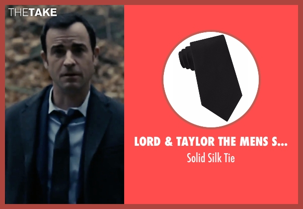 Lord & Taylor The Mens Shop black tie from The Girl on the Train seen with Justin Theroux (Tom Watson)