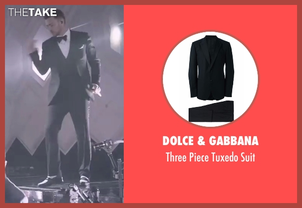 Dolce & Gabbana black suit from Justin Timberlake and the Tennessee Kids seen with Justin Timberlake