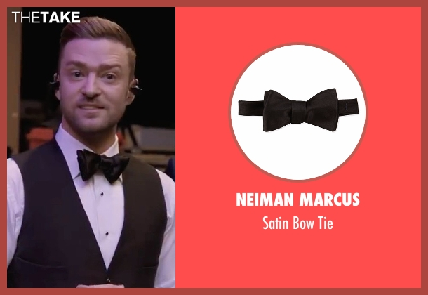 Neiman Marcus black tie from Justin Timberlake and the Tennessee Kids seen with Justin Timberlake