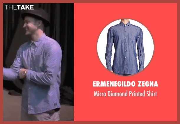 Ermenegildo Zegna blue shirt from Justin Timberlake and the Tennessee Kids seen with Justin Timberlake
