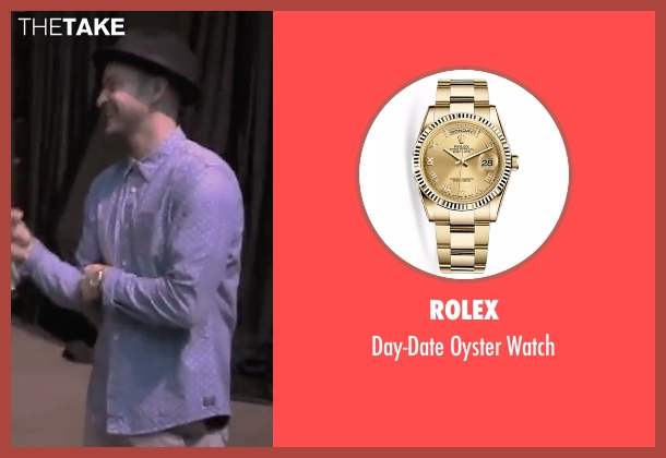 Rolex gold watch from Justin Timberlake and the Tennessee Kids seen with Justin Timberlake