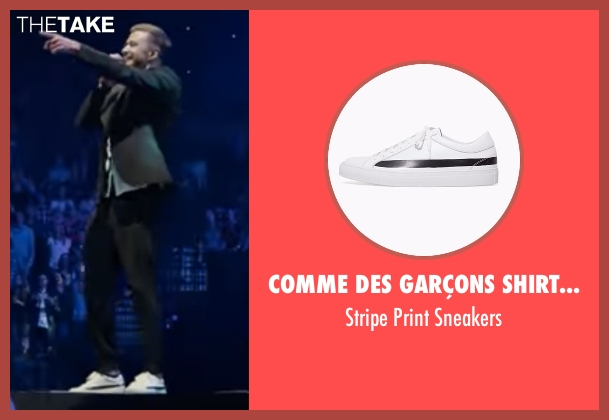 Comme Des Garçons Shirt Man white sneakers from Justin Timberlake and the Tennessee Kids seen with Justin Timberlake