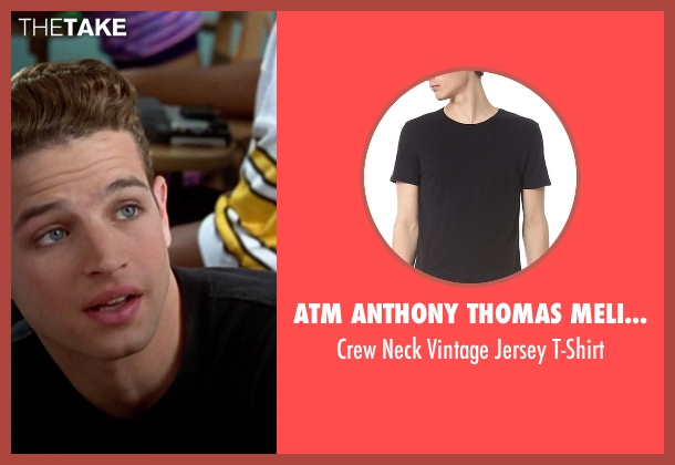 ATM Anthony Thomas Melillo black t-shirt from Clueless seen with Justin Walker (Christian)