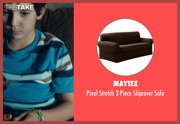 Maytex brown sofa from Drive seen with Kaden Leos (Benicio)