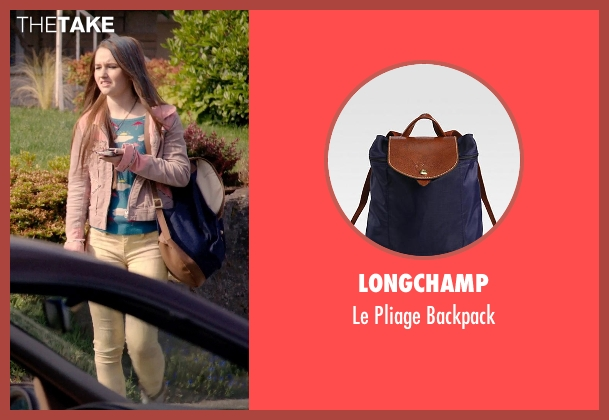 Longchamp blue backpack from Laggies seen with Kaitlyn Dever (Misty)