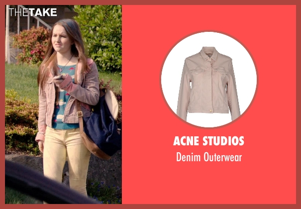 Acne Studios pink outerwear from Laggies seen with Kaitlyn Dever (Misty)