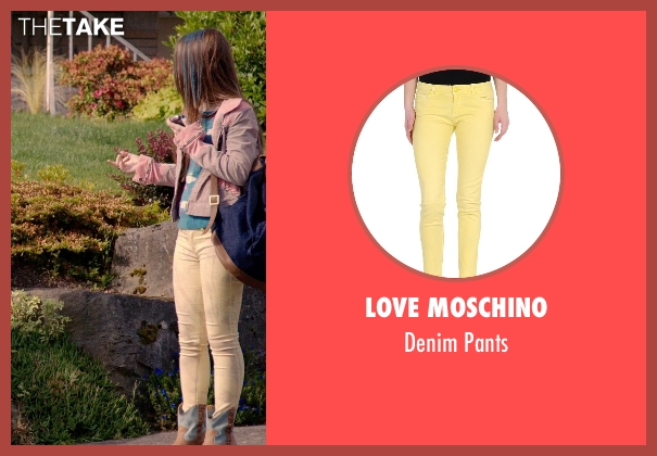 Love Moschino yellow pants from Laggies seen with Kaitlyn Dever (Misty)
