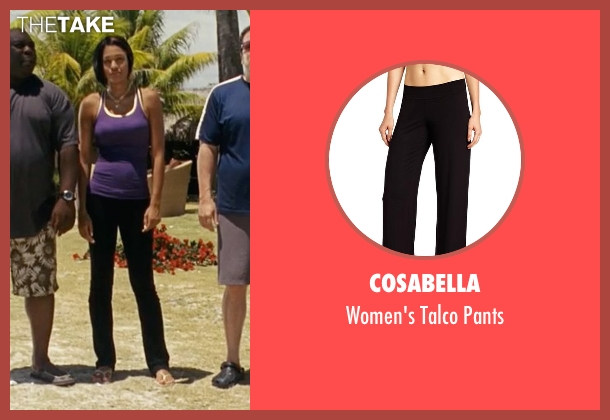 Cosabella black pants from Couple's Retreat seen with Kali Hawk (Trudy)