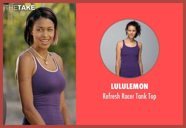 Lululemon purple top from Couple's Retreat seen with Kali Hawk (Trudy)