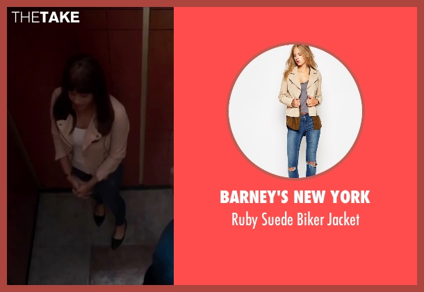 Barney's New York beige jacket from Fifty Shades of Black seen with Kali Hawk (Hannah)