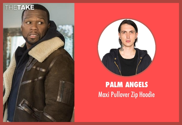 Palm Angels blue hoodie from Power seen with Kanan (50 Cent)