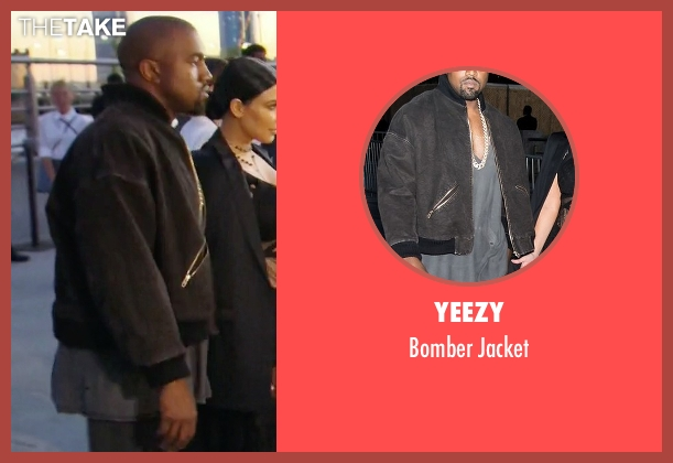 Yeezy black jacket from Keeping Up With The Kardashians seen with Kanye West