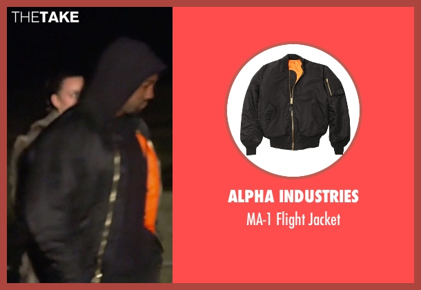 Alpha Industries black jacket from Keeping Up With The Kardashians seen with Kanye West