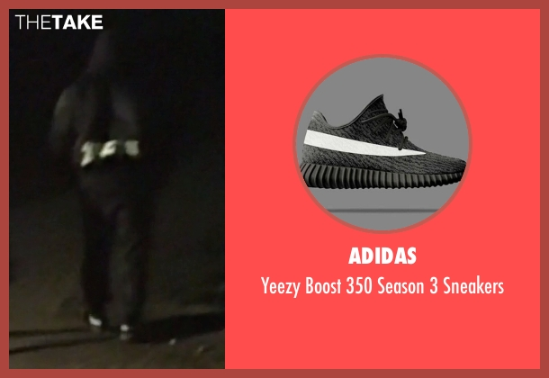 Adidas black sneakers from Keeping Up With The Kardashians seen with Kanye West