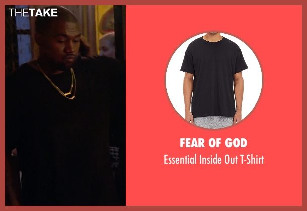 Fear of God black t-shirt from Keeping Up With The Kardashians seen with Kanye West