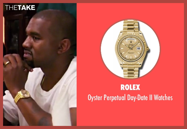 Rolex  gold watches from Keeping Up With The Kardashians seen with Kanye West