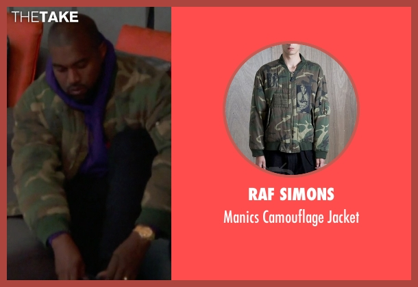 Raf Simons green jacket from Keeping Up With The Kardashians seen with Kanye West