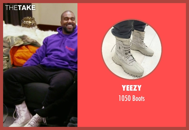Yeezy  white boots from Keeping Up With The Kardashians seen with Kanye West