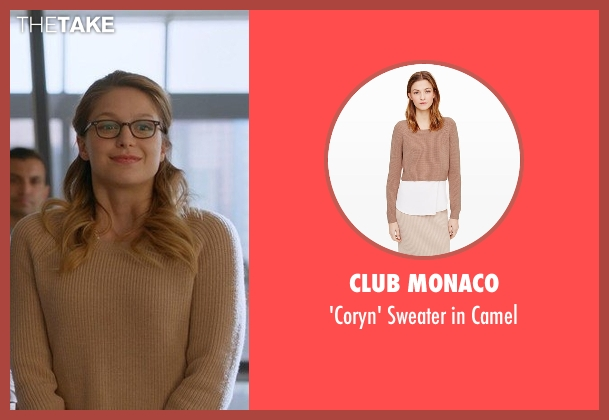 Club Monaco beige camel from Supergirl seen with Kara Danvers/Supergirl (Melissa Benoist)