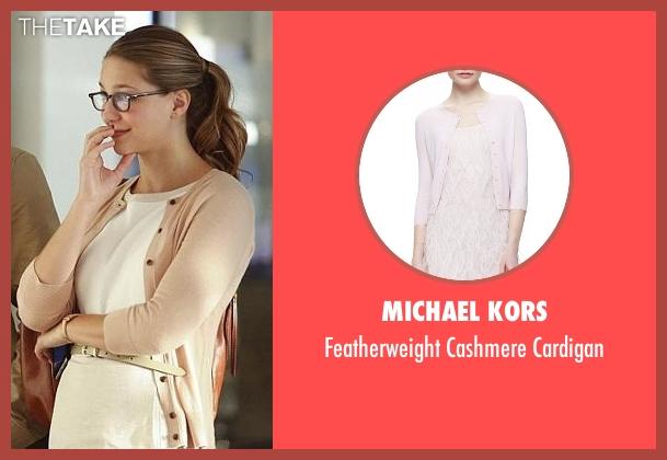 Michael Kors beige cardigan from Supergirl seen with Kara Danvers/Supergirl (Melissa Benoist)