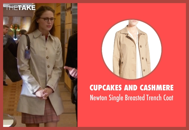 Cupcakes And Cashmere beige coat from Supergirl seen with Kara Danvers/Supergirl (Melissa Benoist)