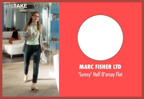 Marc Fisher Ltd beige flat from Supergirl seen with Kara Danvers/Supergirl (Melissa Benoist)