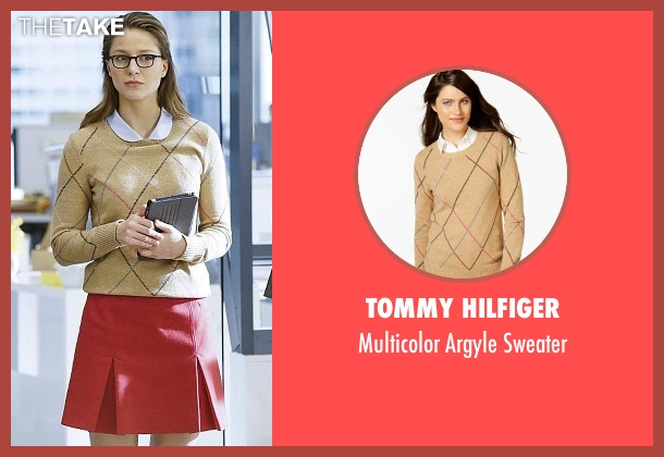 Tommy Hilfiger beige sweater from Supergirl seen with Kara Danvers/Supergirl (Melissa Benoist)
