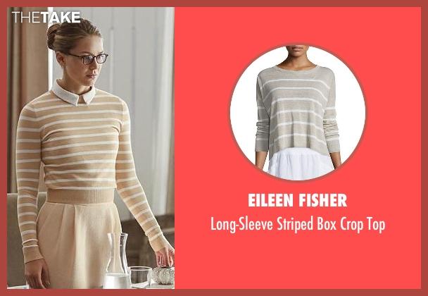 Eileen Fisher beige top from Supergirl seen with Kara Danvers/Supergirl (Melissa Benoist)