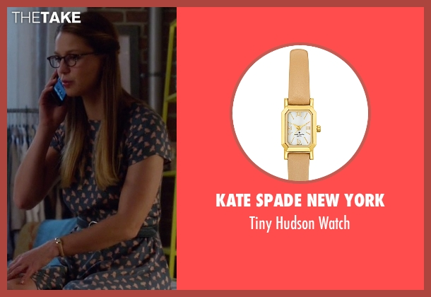 Kate Spade New York beige watch from Supergirl seen with Kara Danvers/Supergirl (Melissa Benoist)