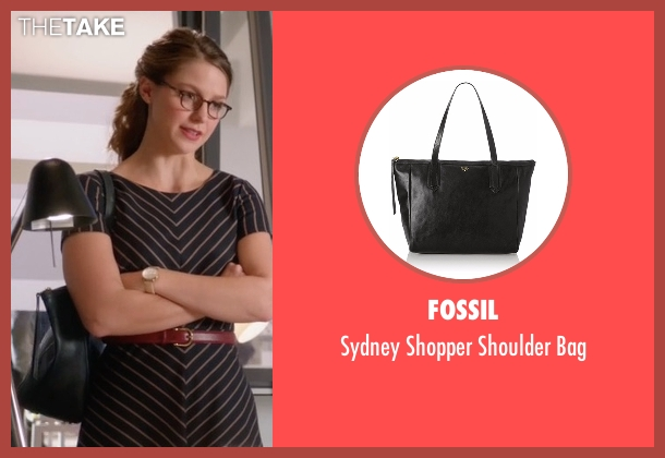 Fossil black bag from Supergirl seen with Kara Danvers/Supergirl (Melissa Benoist)