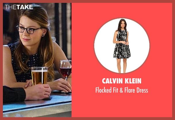 Calvin Klein black dress from Supergirl seen with Kara Danvers/Supergirl (Melissa Benoist)