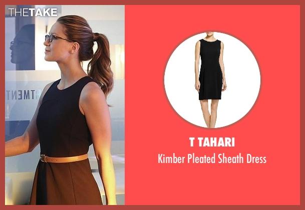 T Tahari black dress from Supergirl seen with Kara Danvers/Supergirl (Melissa Benoist)