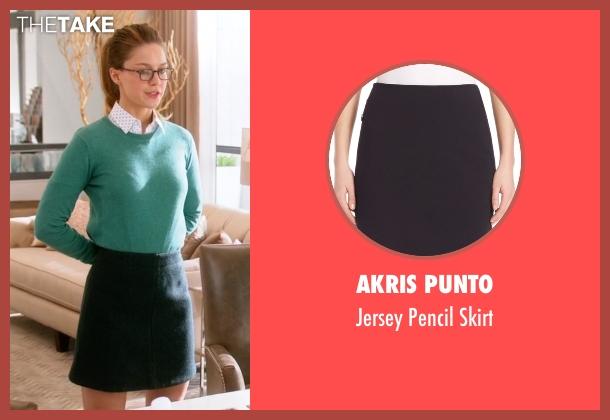 Akris Punto black skirt from Supergirl seen with Kara Danvers/Supergirl (Melissa Benoist)