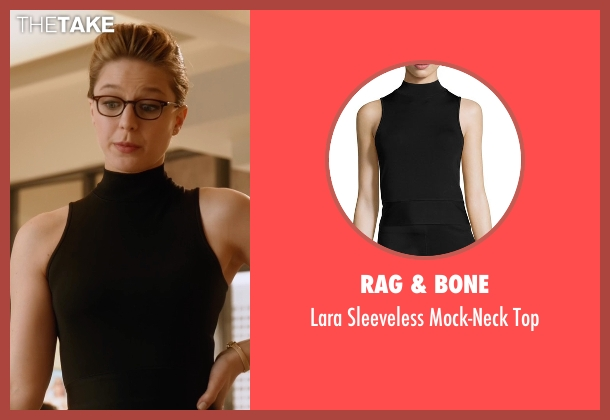 Rag & Bone black top from Supergirl seen with Kara Danvers/Supergirl (Melissa Benoist)