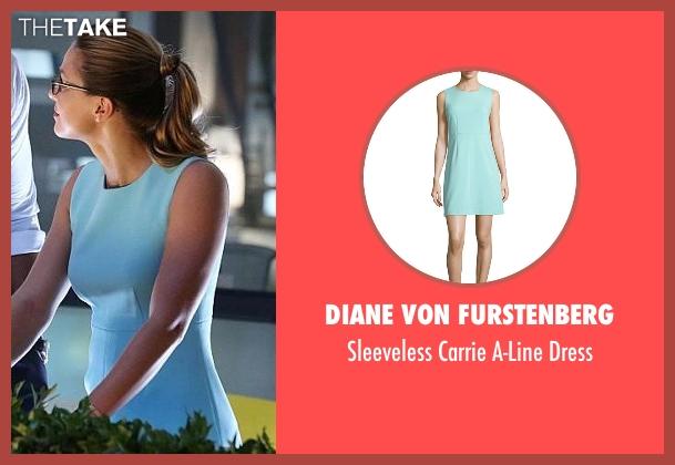 Diane von Furstenberg blue dress from Supergirl seen with Kara Danvers/Supergirl (Melissa Benoist)