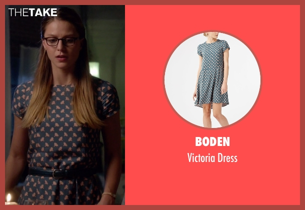 Boden blue dress from Supergirl seen with Kara Danvers/Supergirl (Melissa Benoist)