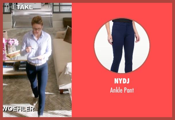Nydj blue pant from Supergirl seen with Kara Danvers/Supergirl (Melissa Benoist)