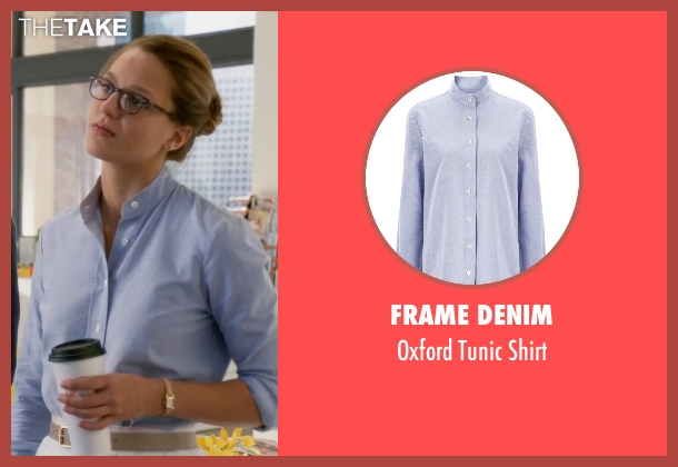 Frame Denim blue shirt from Supergirl seen with Kara Danvers/Supergirl (Melissa Benoist)