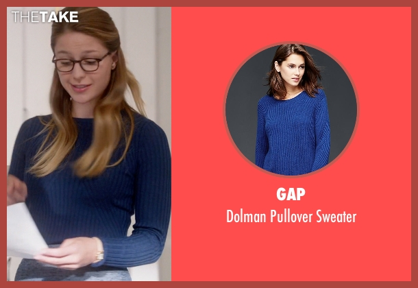Gap blue sweater from Supergirl seen with Kara Danvers/Supergirl (Melissa Benoist)