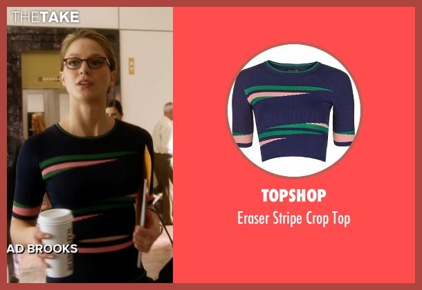 Topshop blue top from Supergirl seen with Kara Danvers/Supergirl (Melissa Benoist)