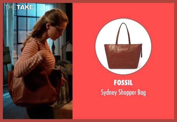 Fossil brown bag from Supergirl seen with Kara Danvers/Supergirl (Melissa Benoist)
