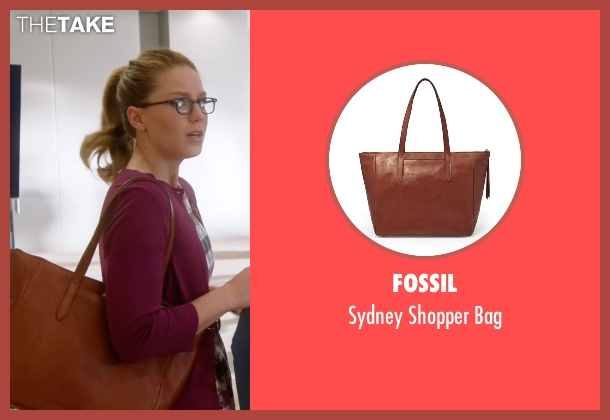 Fossil  brown bag from Supergirl seen with Kara Danvers/Supergirl (Melissa Benoist)