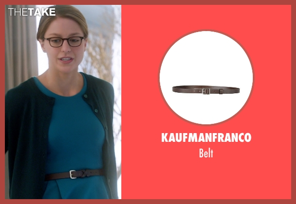 Kaufmanfranco brown belt from Supergirl seen with Kara Danvers/Supergirl (Melissa Benoist)
