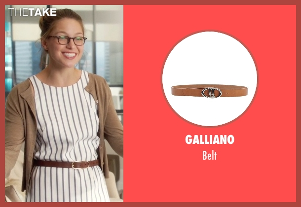 Galliano brown belt from Supergirl seen with Kara Danvers/Supergirl (Melissa Benoist)
