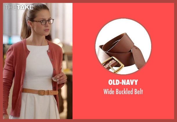 Old-Navy brown belt from Supergirl seen with Kara Danvers/Supergirl (Melissa Benoist)