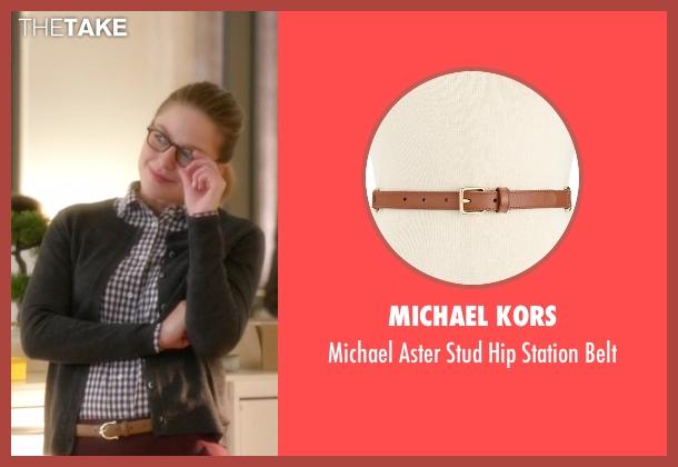 Michael Kors brown belt from Supergirl seen with Kara Danvers/Supergirl (Melissa Benoist)