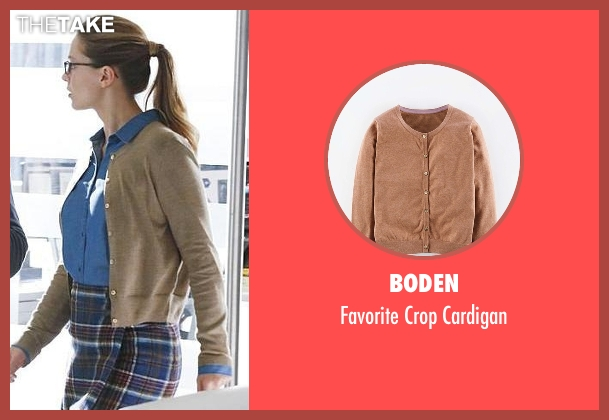 Boden brown cardigan from Supergirl seen with Kara Danvers/Supergirl (Melissa Benoist)