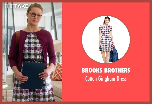 Brooks Brothers dress from Supergirl seen with Kara Danvers/Supergirl (Melissa Benoist)