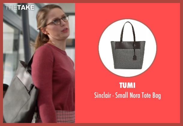 Tumi gray bag from Supergirl seen with Kara Danvers/Supergirl (Melissa Benoist)