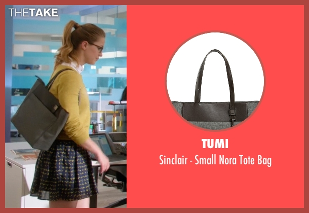 Tumi gray bag from Supergirl seen with Kara Danvers/Supergirl (Melissa Benoist)